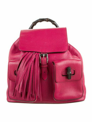 Gucci Bamboo Daily Leather Backpack Pink