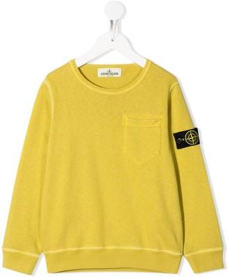 Stone Island Junior Logo-Patch Sweatshirt