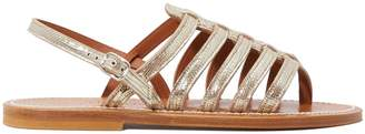 K. Jacques Homere lame leather sandals