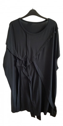 Yohji Yamamoto Black Cotton Dress for Women Vintage