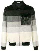 J.W.Anderson striped bomber jacket