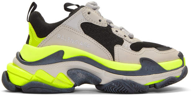 S And Triple Grey Yellow Sneakers BodxeC