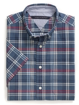 Tommy Hilfiger Custom Fit Plaid Short Sleeve Shirt
