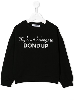 Dondup Kids My Heart Belongs To sweatshirt