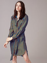 Diane von Furstenberg Long Sleeve Collared Shirtdress