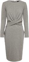 Oxford Penny Pinstripe Knit Dress Gry X