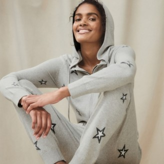 The White Company Cotton-Silk Novelty Star Onesie , Pale Grey Marl, Extra Small