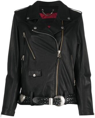 Golden Goose Belted Biker Jacket