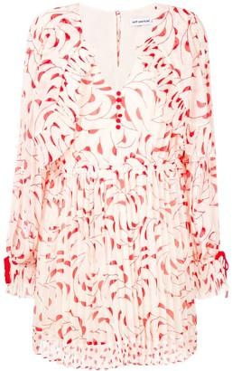 Self-Portrait printed longsleeved dress