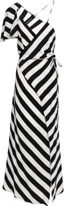 Mason by Michelle Mason Cape-effect Silk Crepe De Chine Midi Wrap Dress