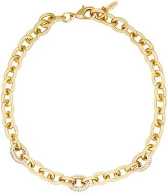 Ettika Crystal Chain Link Necklace