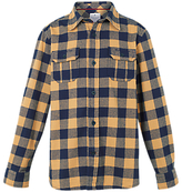 Fat Face Boys' Buffalo Check Shirt, Yellow