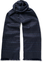 Paul Smith Polka-Dot Silk-Twill Scarf