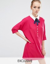 Sister Jane Siren Song Shift Dress With Contrast Collar