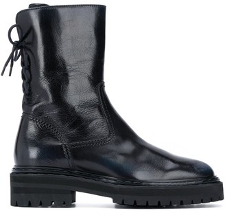 Officine Creative Rear Lace-Up Ankle Boots