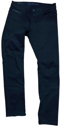 Calvin Klein Black Cotton Jeans