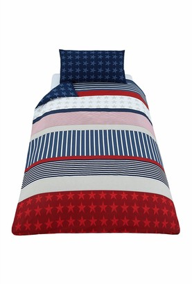 Catherine Lansfield Stars and Stripes Duvet Cover Set