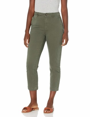 Goodthreads Amazon Brand Women's Stretch Chino Straight Crop Pant Deep Depths 0