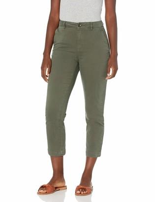 Goodthreads Amazon Brand Women's Stretch Chino Straight Leg Capri Pant Deep Depths 0