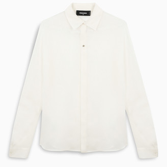 DSQUARED2 White silk blouse