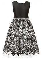 Jayne Copeland Big Girls 7-12 Rhinestone Embroidered Bow-Back Dress