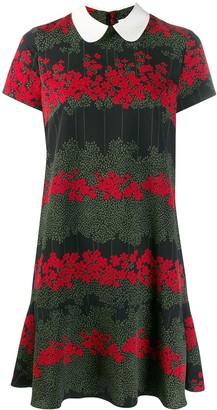 RED Valentino Floral-Print Short Dress