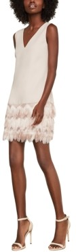 BCBGMAXAZRIA Addilyn Fringe-Trim Shift Dress
