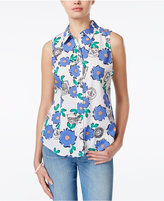 Maison Jules Sleeveless Floral-Print Shirt, Only at Macy's
