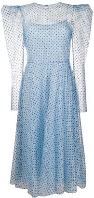 Philosophy di Lorenzo Serafini sheer polka dot dress