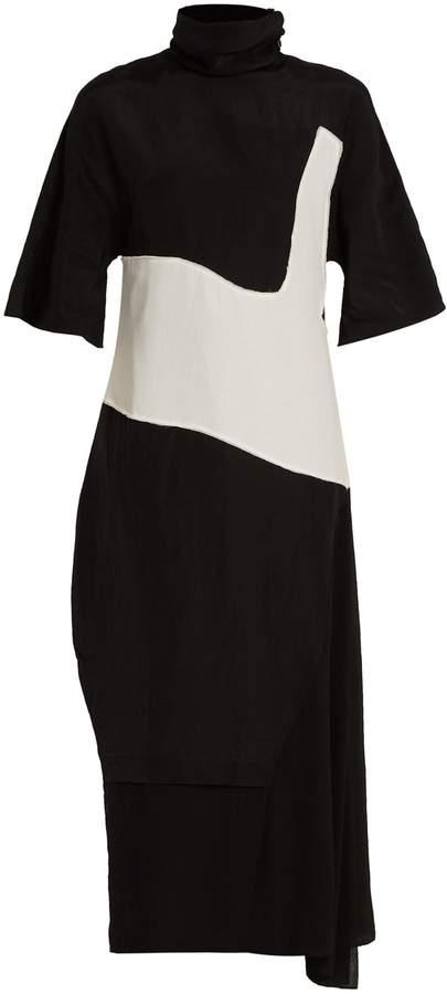 Acne Studios Dilona high-neck contrast-panel dress