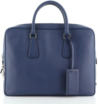 Prada Zip Around Briefcase Saffiano Leather Large
