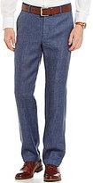 Murano Alex Flat-Front Slim-Fit Linen Pants