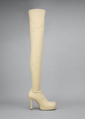 Bottega Veneta Wave 105mm Platform Stretch Leather Over-the-Knee Boots