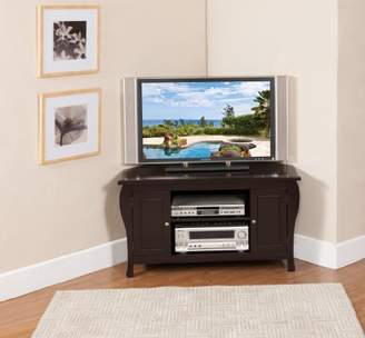 King's Brand Finish Wood Corner TV Stand Entertainment Center