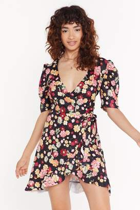 Nasty Gal Womens Anyone Bud You Floral Mini Dress - black - 8