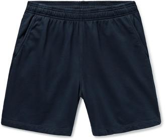 SAVE KHAKI UNITED Slim-Fit Garment-Dyed Fleece-Back Supima Cotton-Jersey Drawstring Shorts