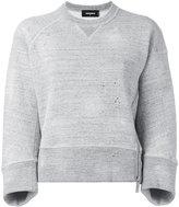 DSQUARED2 cropped side zip sweatshirt