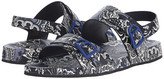 Etro Leather Thong Sandal with Paisley Footbed