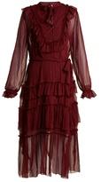 Zimmermann Folly tie-neck silk dress