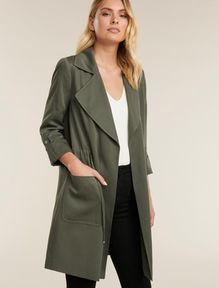 Forever New Emily Soft Trench Coat - Khaki - 10