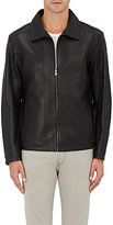 Barneys New York MEN'S REVERSIBLE LEATHER JACKET-BLACK SIZE S