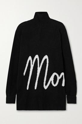 Moncler Oversized Intarsia Knitted Turtleneck Sweater - Black