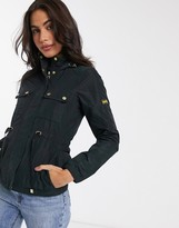 Barbour International curveball showerproof jacket in black