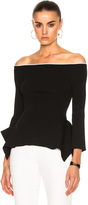 Roland Mouret Cartwright Rib Viscose Knit Top