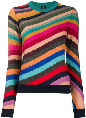 Paul Smith Striped Slim-Fit Jumper