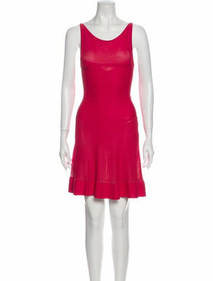 Alaia Scoop Neck Midi Length Dress w/ Tags Pink