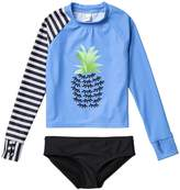 Limeapple Pineapple Rashguard 2-Piece Swimsuit (Big Girls)