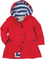 Hatley Button Up Splash Jacket-Red/Navy Stripes-5