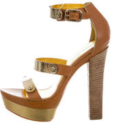 Emilio Pucci Leather Platform Sandals