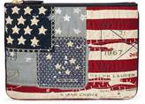 Ralph Lauren Flag Canvas Zip Pouch